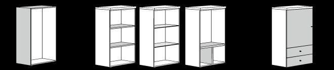 ヒュルスタ ボックスシステム収納の考え方