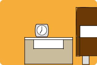 ベッドと合わせるサイドテーブルをセレクト