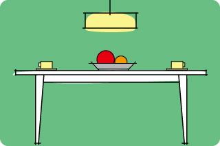 シンプルモダンなテーブルをセレクト