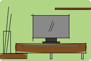 ヒュルスタ テレビボードをセレクト