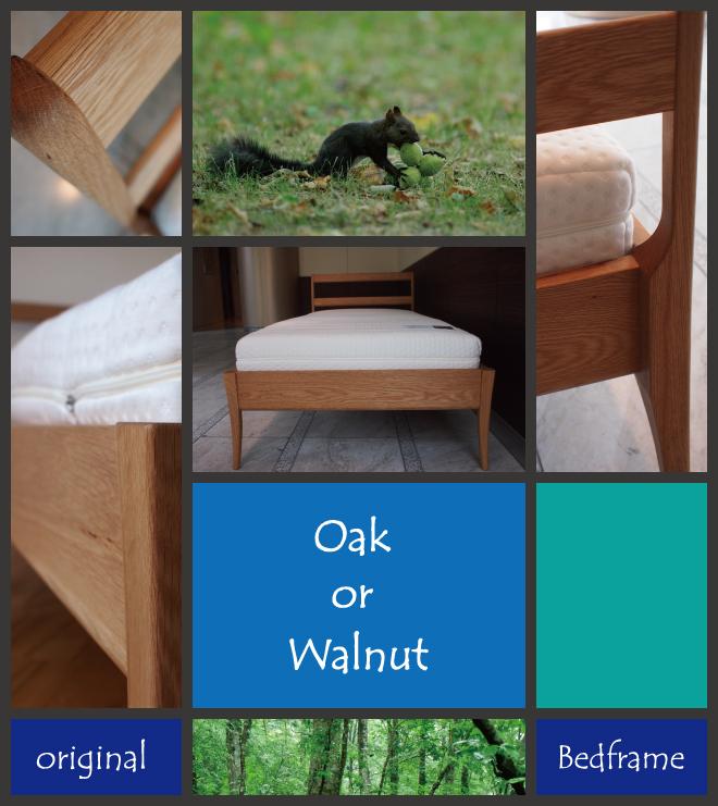 無垢材ベッドフレーム「OLIVE」イメージ